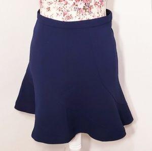 J. Crew Navy Blue Twist Panel Circle Skirt Size 4